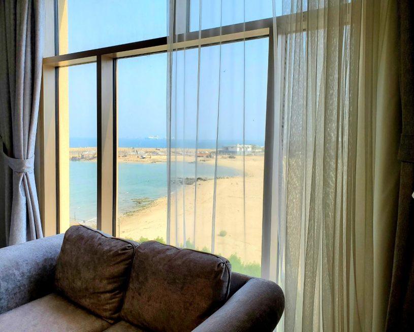غرفة ديلوكس مزدوجة بسرير توين – إطلالة جزئية على البحر